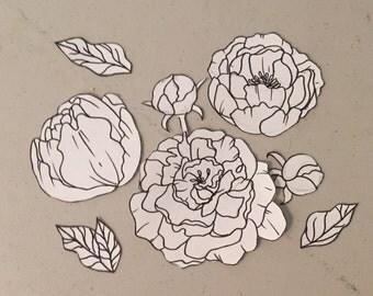 Custom flower tattoo design