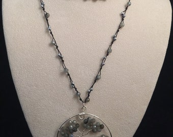 Labradorite Tree of Life Necklace