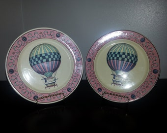 Set of 4 Lillian Vernon Air Balloon Plates