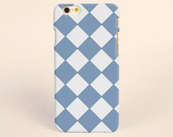 Blue Argyle iPhone 8 case, iPhone 8 plus, iPhone X case, iPhone 7 plus case, iphone 7 case, iPhone 6s case, tough case, samsung galaxy case