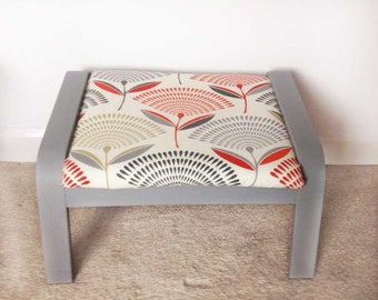Summer Floral Footstool