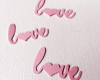 Love love love confetti (Pink)