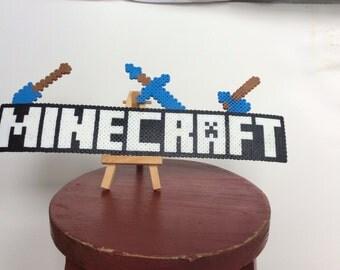 Minecraft perler bead magnet