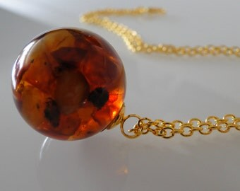 Baltic amber necklace ball