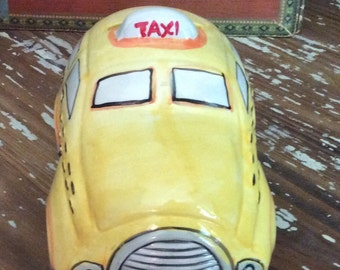 Ceramic NYC Taxicab Bank