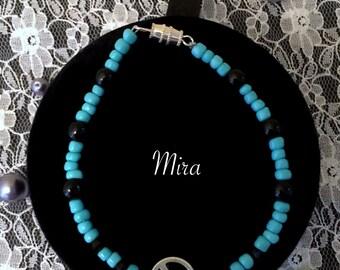 Turquoise Beaded Peace Symbol Bracelet Mira Design