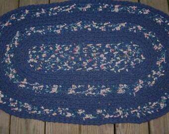 Crocheted oval Rug........Fabric