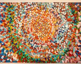 "Supernova acrylic 36""x24"" 2016"