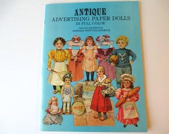 Antique Advertising Paper Dolls Vintage 1981, Paper Dolls, Vintage Paper Dolls
