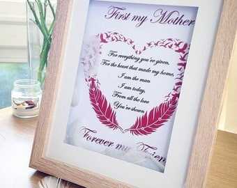 First My Mother ~ Personalised Print & Frame