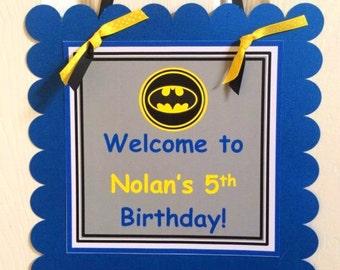 Batman Welcome Door Sign