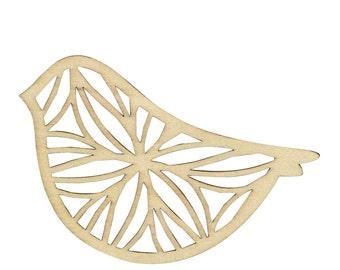 3 - Support bird - Support wood geometric bird silhouettes
