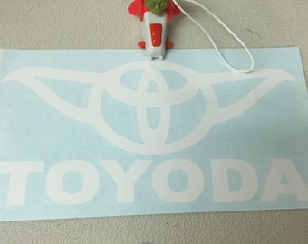 TOYODA Car Decal - Funny Star Wars Car Decals - 5.7 Inches wide by 2.8 Inches Tall