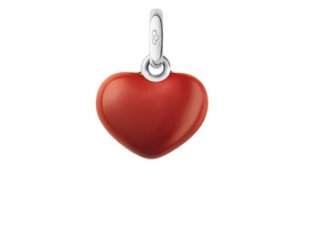 Links of London 925 Sterling Silver Red Heart Charm/pendant