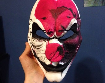 Old Hoxton, inspired burned  mask, Pay day2, for Halloween or cosplay