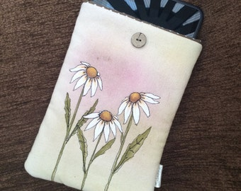 Hand painted, embroidered Kindle Fire / iPad mini cover