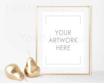 Styled Frame Mockup, Mock-up, Gold Frame Mockup, Fashion print, Modern art, Styled Photography Mockup, Digital Frame, Instant download