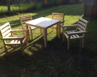 Kids Wooden Table and Chair Set.