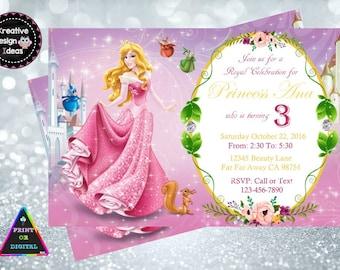 Sleeping Beauty Invitation Sleeping Beauty Birthday Party Sleeping Beauty Invitations Birthday Party Customized Sleeping Beauty Invite