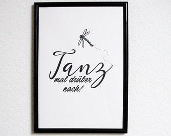 Dance over it to! Gift family art print, fine art print