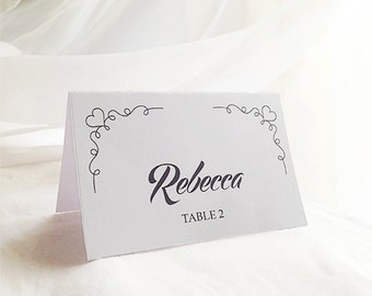 Printable Wedding Place Card Template, Seating Cards, PDF Digital Download