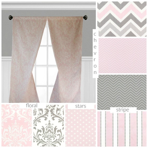 pink and gray curtains nursery childrens curtain panels light pink