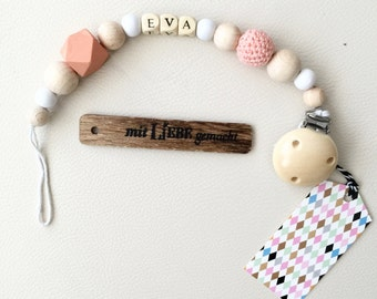 Personalized pacifier in pastel shades