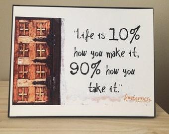 Inspirational Art, Inspirational Photography, Church Door Life is 10% Art
