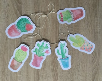 "Garland paper ""cactus"" - decoration piece"