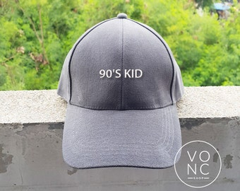 90's KID baseball hat Embroidery hat Fashion Hipster cap Cotton cap Pinterest Instagram Tumblr