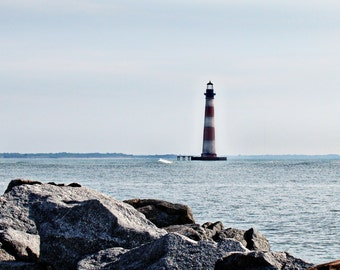 Light house in Maine - Fine Art Photography Canvas, Matboard and Prints