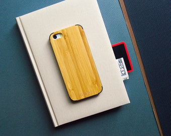 Wooden iPhone SE case, Wood iPhone 5s Case, iPhone 5 wooden case, Bamboo wooden case iPhone 5, LCD screen + box // BAMBOO