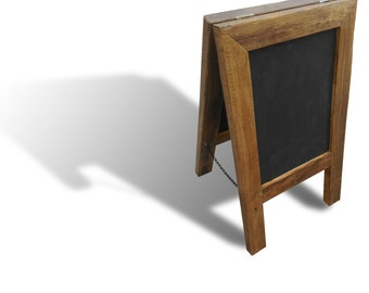 Wedding Menu Board Long Chalkboard Attached Stand Easel