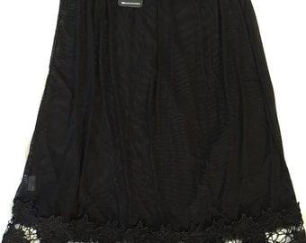 Black Flowered Half Slip (petticoat)