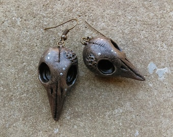 Bird Scull Earrings