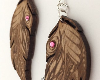 Earrings Women Feathers