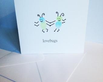 Lovebugs fingerprint card