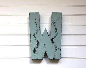Rustic Wedding Decor - Blue Letters - Wooden Letters for Wedding - Rustic Wedding Table Decor - Country Chic Wedding Decor - Vintage Wedding