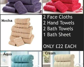 Towel set Delivery to UK only