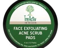TreeActiv Blackhead Face Scrub Pads - For Removing Stubborn Blackheads, Whiteheads and Dead Skin (4 Oz)