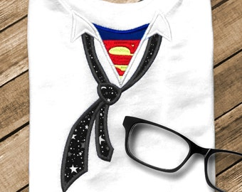 I'm Too Super for My Shirt  Applique Embroidery Design File