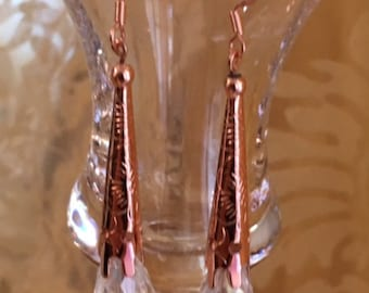 Copper Bola Earrings