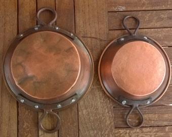 Pans, pans, casserole tinned copper vintage