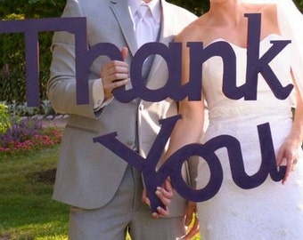 Wood Thank You Sign! Great for Wedding, shower