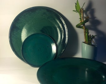 Turquoise Plate Set