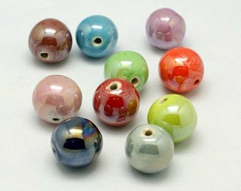 Porcelain Pearlized Beads