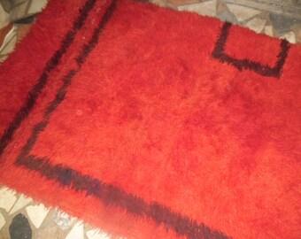 vintage shaggy tulu rug oriental turkish rug hanmade  wool decorative