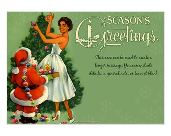 Order Your Vintage CHRISTMAS ECard Greeting or Invitation