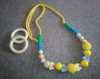 Crochet nursing necklace, teething necklace