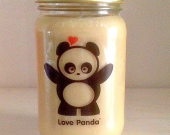 Love Panda Soy Mason Jar Candle